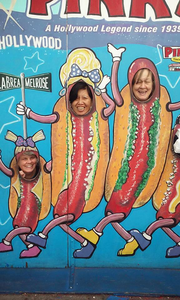 Jill, Sharon & Betty at Pink's Hotdogs Jill's BDay